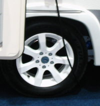 185R14C 102/100  PREMIUM     ALLOYWHEEL OJ 14-5 WHITE  -  for Caravan trailer